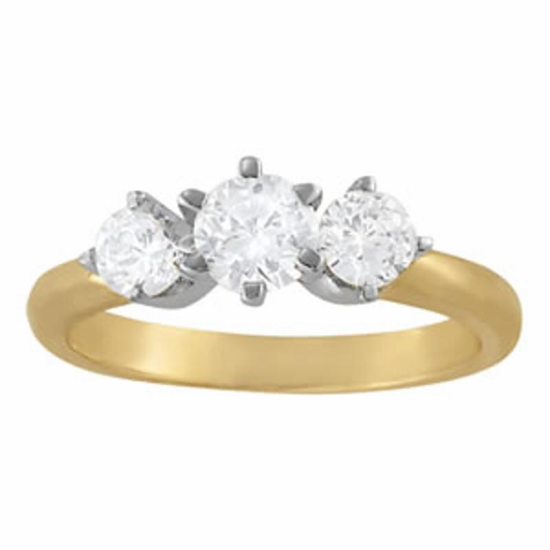 SEMI MOUNT ENGAGEMENT RING 3 STONE ROUND - 8D1R83707