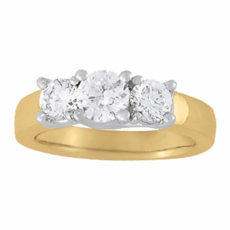 SEMI MOUNT ENGAGEMENT RING 3 STONE ROUND - 8D1R83739