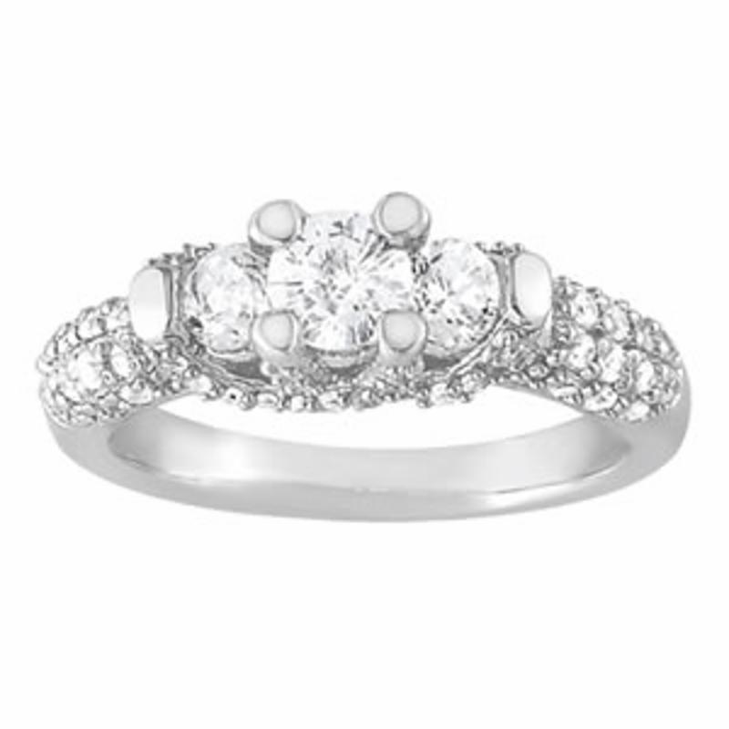SEMI MOUNT ENGAGEMENT RING 3 STONE ROUND - 8D1R83741