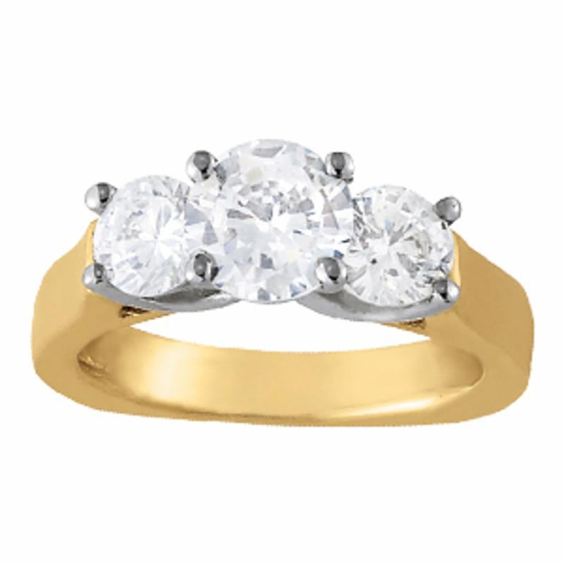 SEMI MOUNT ENGAGEMENT RING 3 STONE ROUND - 8D1R83761