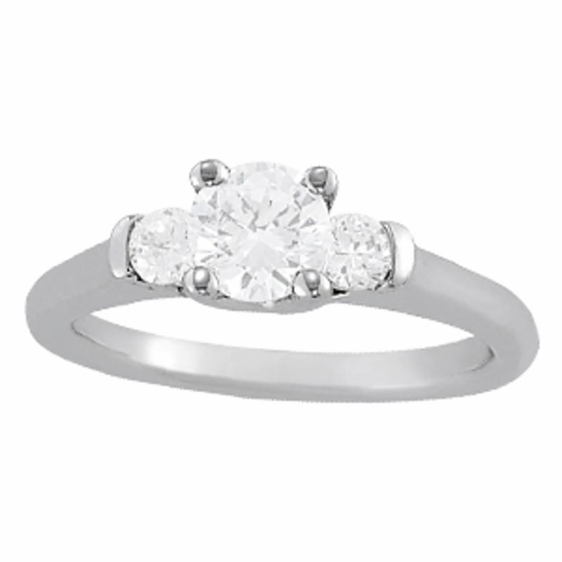 SEMI MOUNT ENGAGEMENT RING 3 STONE ROUND - 8D1R83785