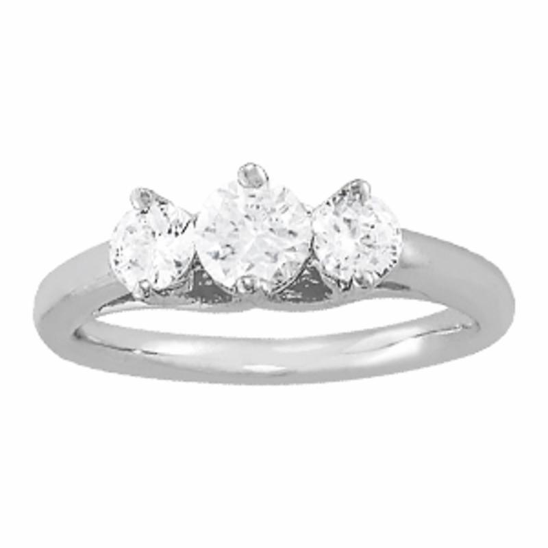 SEMI MOUNT ENGAGEMENT RING 3 STONE ROUND - 8D1R83821