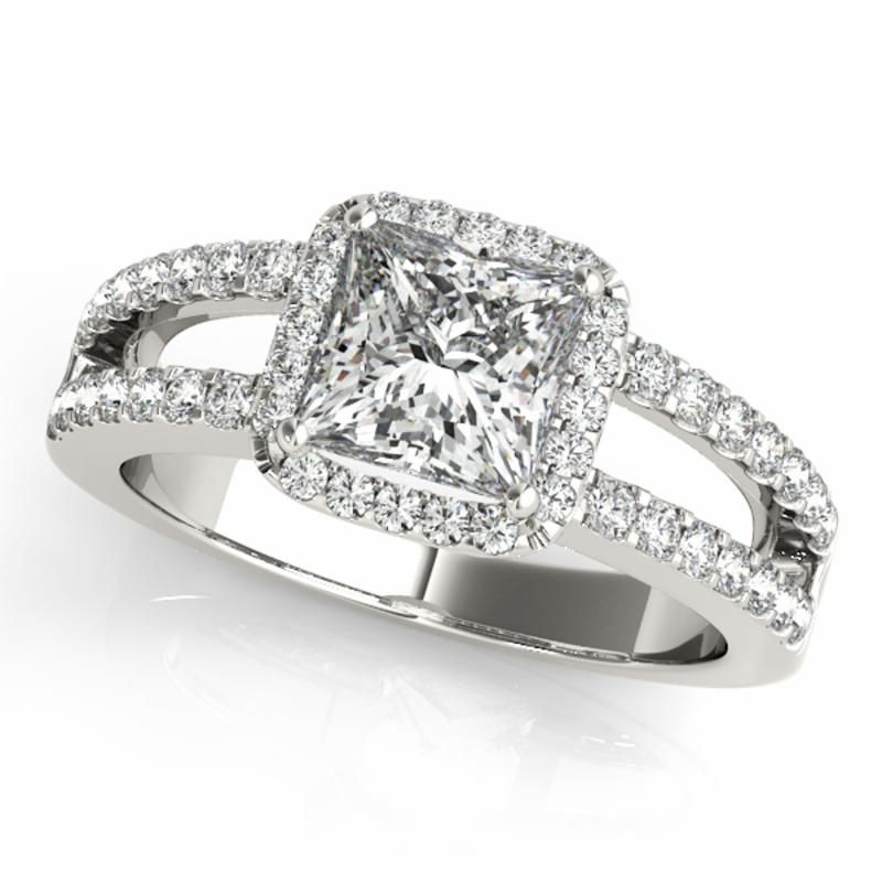 SEMI MOUNT ENGAGEMENT RING HALO SQUARE & CUSHION - 8D1R84051