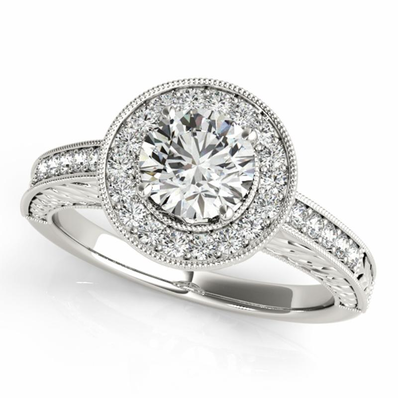 SEMI MOUNT ENGAGEMENT RING HALO ROUND - 8D1R84509