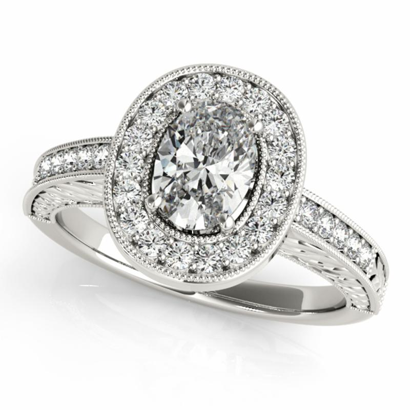 SEMI MOUNT ENGAGEMENT RING HALO OVAL - 8D1R84512